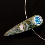Siegelstein - Jaspis kombiniert mit einem Drachen